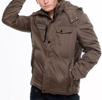 Уикално мъжко яке за зимата с качулка