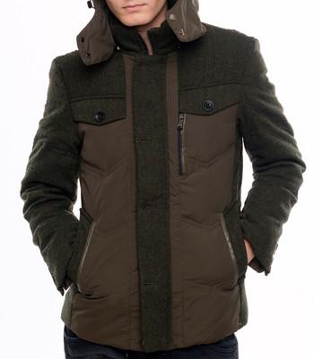НОВО мъжко яке за зимата в зелен и кафяв цвят