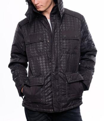 Стилно мъжко яке за есента и зимата в черен цвят