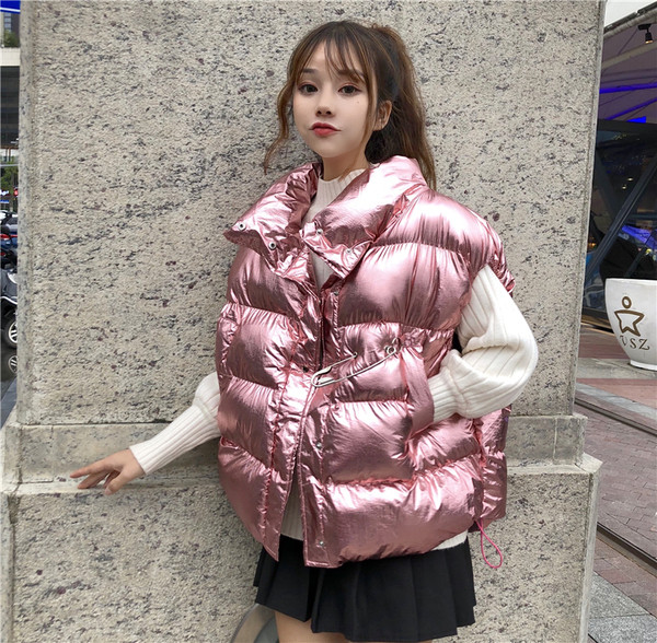 3163152056f Модерен дамски елек с джобове и метална декорация в три цвята - Badu.bg -  Светът в ръцете ти