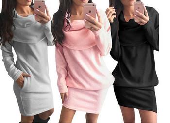Спортно-ежедневна дамска рокля с джобове в няколко цвята