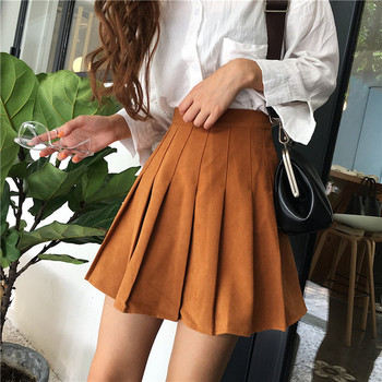 Стилна дамска пола с висока талия в четири цвята