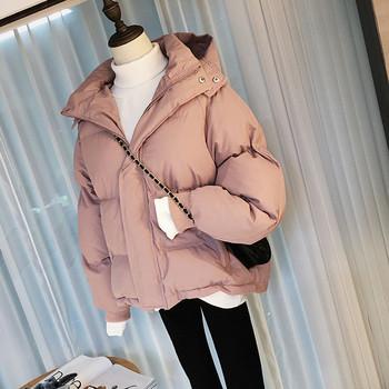 Модерно  дамско яке с качулка в четири цвята