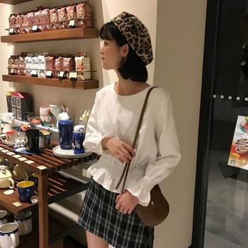 Ежедневна дамска блуза с О-образно деколте в четири цвята