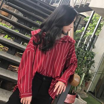 Стилна дамска блуза широк модел в три цвята