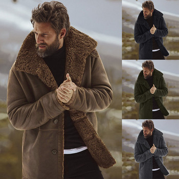 Мъжко зимно яке с мека подплата в няколко цвята Slim модел