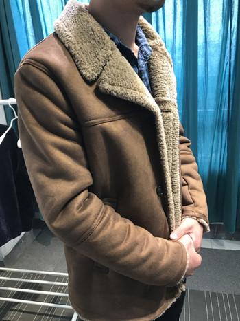 Стилно мъжко яке с мека подплата и джобове в кафяв цвят