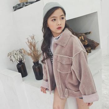 Детско палто за момичета - широк модел в няколко цвята