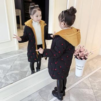 Детско модерно яке за момичета в черен цвят