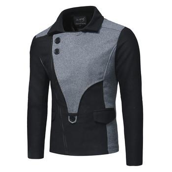 Модерно мъжко палто в три цвята