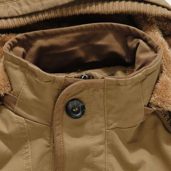 Зимно мъжко яке с мека подплата в три цвята-два модела