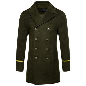 Мъжко стилно палто с копчета в няколко цвята
