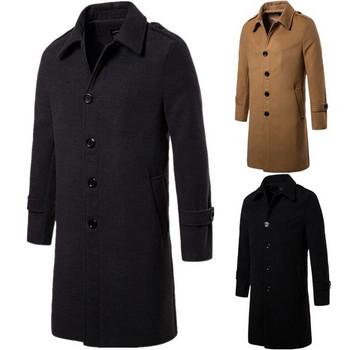 Κομψό ανδρικό παλτό σε τρία χρώματα - Badu.gr Ο κόσμος στα χέρια σου b601b290183