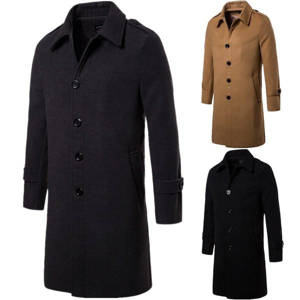 Κομψό ανδρικό παλτό σε τρία χρώματα - Badu.gr Ο κόσμος στα χέρια σου c1cef984ec7