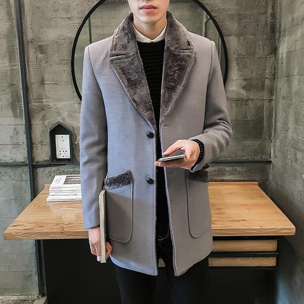 Κομψό ανδρικό παλτό με απαλή επένδυση σε τρία χρώματα - Badu.gr Ο κόσμος στα  χέρια σου c03ef0311b9