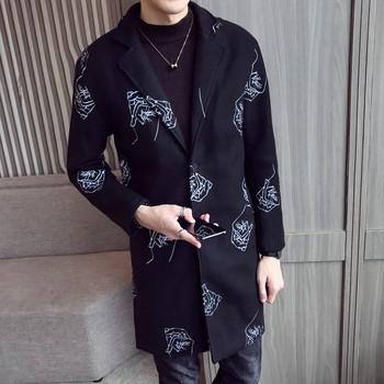 Елегантно мъжко палто с бродерия-два модела