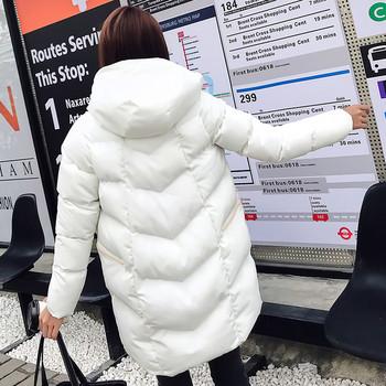 Дамско модерно  яке с качулка в четири цвята