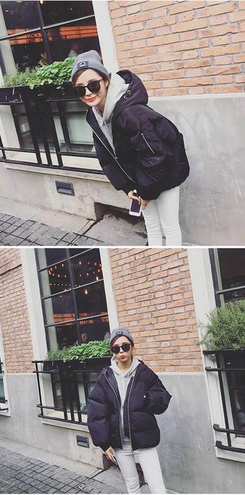 Κυρίες κομψό σακάκι με κουκούλα σε δύο χρώματα