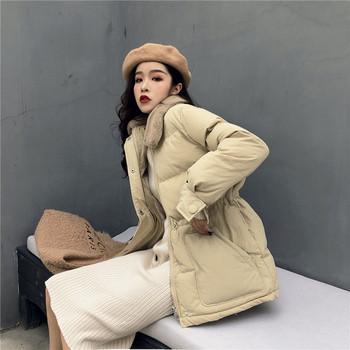 Γυναικείο σακάκι με κολάρο κολάρο σε δύο χρώματα