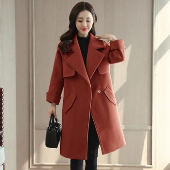 Κομψό γυναικείο παλτό με τσέπες σε τρία χρώματα - Badu.gr Ο κόσμος ... 5ebce244711