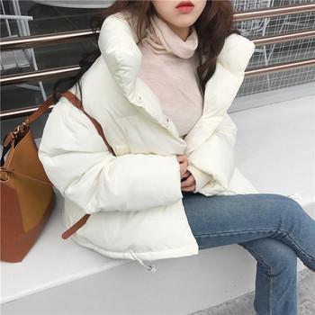 Γυναικεία παλτό με σχήμα σχήματος Ο σε δύο χρώματα