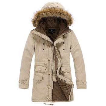 Зимно мъжко яке с пухена качулка в няколко цвята