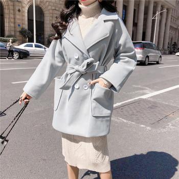 Κυρίες κομψό παλτό με ζώνη σε δύο χρώματα - Badu.gr Ο κόσμος στα ... 507fb61e193