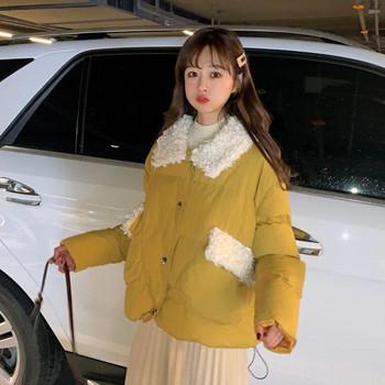 Καθημερινό χειμωνιάτικο σακάκι με απαλή επένδυση σε τρία χρώματα