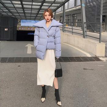 Модерно дамско зимно яке в три цвята