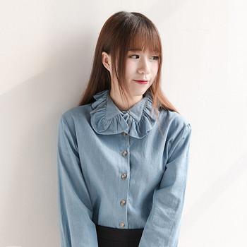 Модерна дамска риза в светъл и тъмен цвят