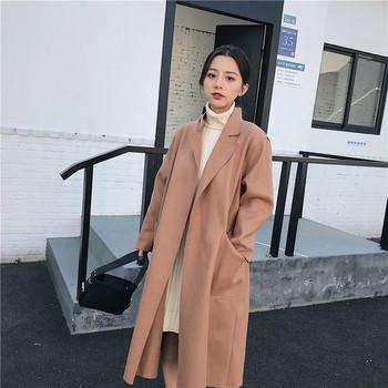 Κομψό μακρύ παλτό με μεγάλες τσέπες σε δύο χρώματα - Badu.gr Ο ... 5f9ea60fc18