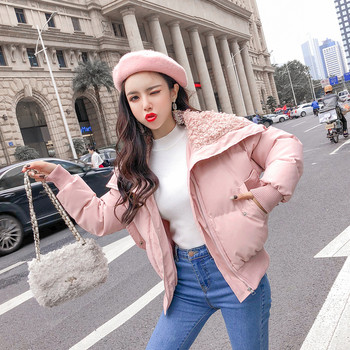 Нов модел дамско яке с мeка подплата в два цвята