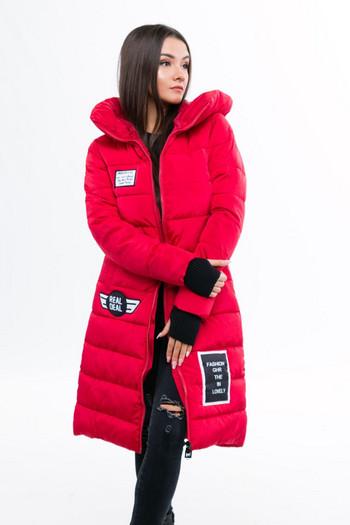 Μοντέρνο γυναικείο μπουφάν  με κουκούλα σε πέντε χρώματα