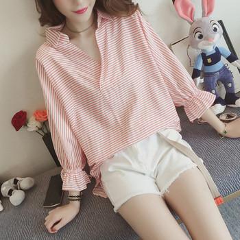 Дамска карирана риза в два цвята - широк модел