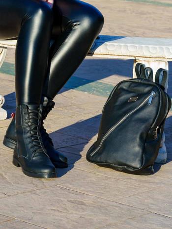 Дамска раница от естествена кожа - Bellagio-черна