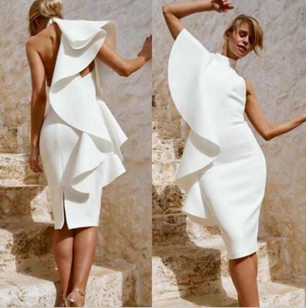 Κομψό γυναικείο φόρεμα σε λευκό χρώμα - Badu.gr Ο κόσμος στα χέρια σου f2d60e66720