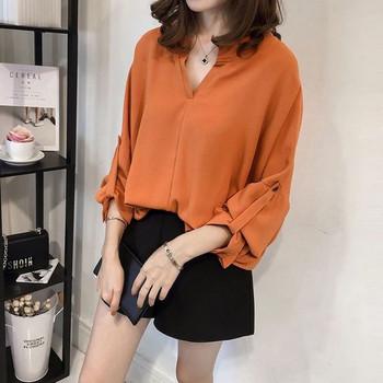Дамска елегантна дълга риза в няколко цвята