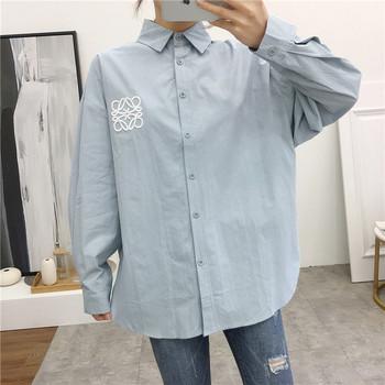 Модерна дамска риза широк  модел в няколко цвята