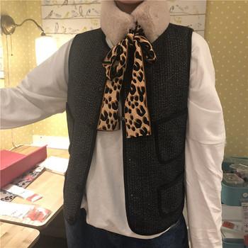 Пухен дамски шал с панделка в няколко цвята