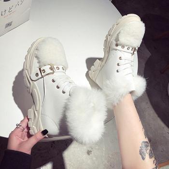 Χειμερινά γυναικεία παπούτσια σε μαύρο και άσπρο χρώμα - Badu.gr Ο ... 05a65a1bb1b