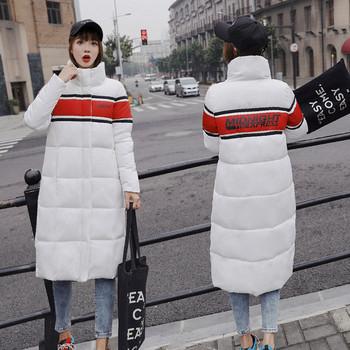 Καθημερινό χειμωνιάτικο σακάκι υψηλής ποιότητας και πολύχρωμη επιγραφή