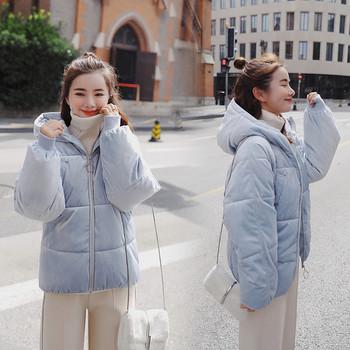 Μοντέρνο χειμερινό μπουφάν  με κουκούλα σε διάφορα χρώματα