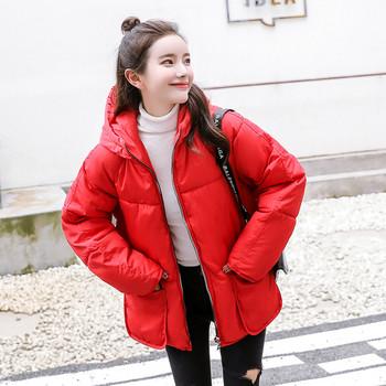 Χειμερινό  μπουφάν με κουκούλα με μεγάλες τσέπες σε διάφορα χρώματα