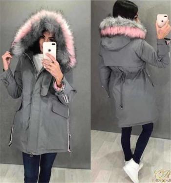 HIT Μοντέρνο γυναικείο μπουφάν με απαλή επένδυση σε διάφορα χρώματα