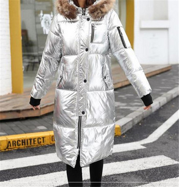 Κομψό γυναικέιο χειμωνιάτικο μπουφάν μακρύ μοντέλορ