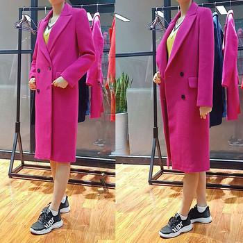 Дамско стилно палто дълъг модел в няколко цвята