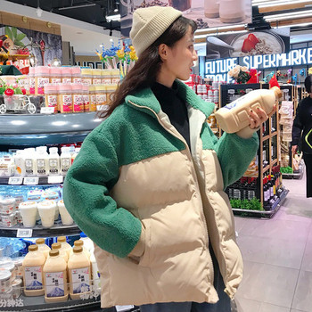 Καθημερινό γυναικείο μπουφάν με τσέπες και ψηλό γιακά σε διάφορα χρώματα