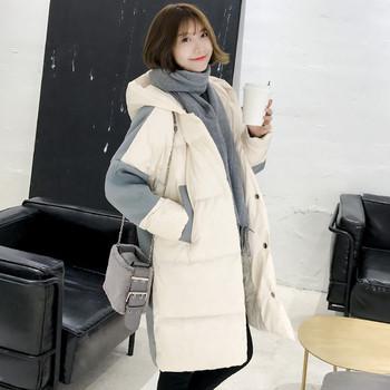 Κομψό γυναικέιο χειμωνιάτικο μπουφάν με κουκούλα σε δύο χρώματα