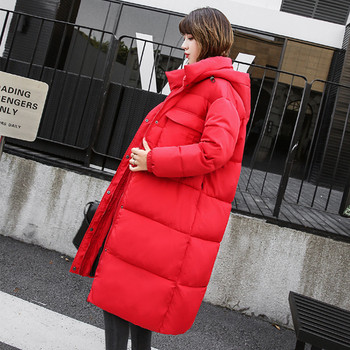 Ежедневно дамско яке дълъг модел с качулка в няколко цвята