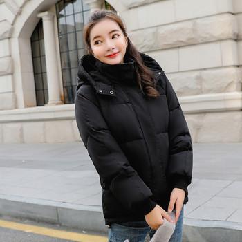 Γυναικείο μπουφάν με κουκούλα και τσέπες σε διάφορα χρώματα